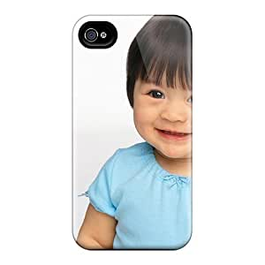 Premium Cute Babies Hd 4 Heavy-duty Protection Case For Iphone 4/4s