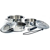 Kuuma Products 58370 Nesting Cookware Set, Stainless Steel