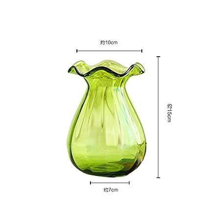 LX.AZ.Kx Adornos de Color Elegantes jarrones de Cristal Transparente el Salón Home Furnishing Playmate Seco, arreglos Florales,Pequeña 2.005 Lx.AZ.Kx Ornaments