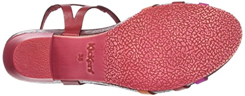 Orange Pacome rouge Rouge Ouvert Kickers Rose Femme Sandales Bout fqn1q8pU