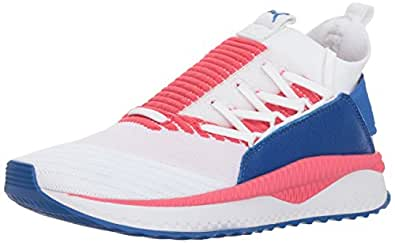 PUMA Women's Tsugi JUN Multi WN's Sneaker, White-Paradise Pink-Nebula Blue, 5.5 M US