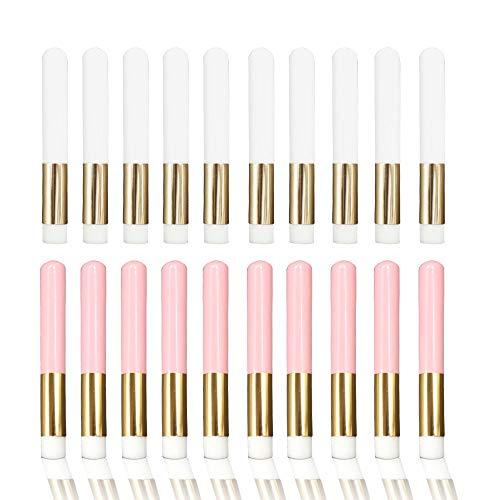 ATROPOS 20 Pcs Lash Shampoo Brush,Lash Cleansing Brush,Nose Pore Deep Cleaning Brush Cosmetic Brushes Peel Off Blackhead Brush Remover Tool for Ladies Girls