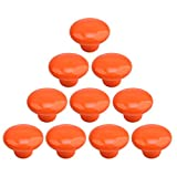 Vicoki 10Pack Drawer Knobs Cupboard Knobs Cute Ceramic Knobs for Kids Room Cabinets Closets Toy Organizer Box Bookcase Drawer Pulls Handle - Orange