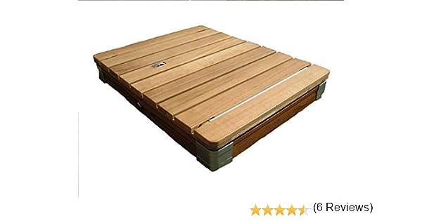 El original: ducha de jardín de diseño mágico, ducha exterior, ducha de camping, tarima de compuesto de madera y plástico en color claro de Mc Shower®, beige: Amazon.es: Jardín