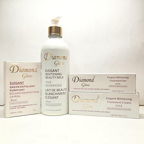 Diamond Glow Set Milk Soap Cream Gel