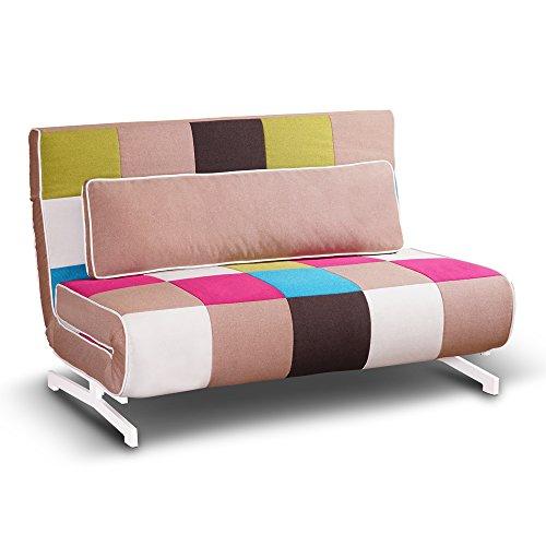 Tuoni Super Divano Letto, Tessuto, Multicolore, 140x75x88 cm | Shop ...