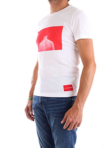 shirt J30j307854 Calvin Klein Homme Xl Blanc Mc T 7tg4fwxngq
