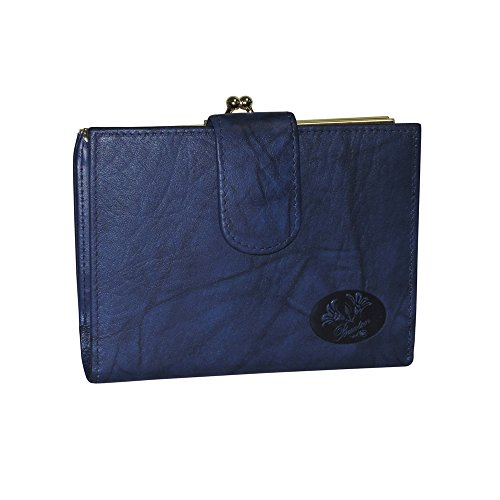 Buxton Heiress Double Cardextm Wallet (Navy-Blue)