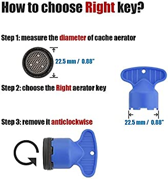 jqk cache faucet aerator key removal wrench tool for m 16 5 18 5 21 5 22 5 24 cache aerators 5 set pack of 4 hak5s p4