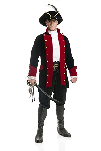 Charades Men's Plus Size Pirate Prince Costume Jacket