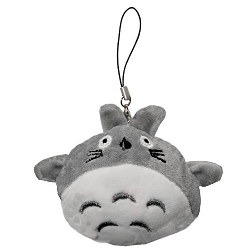 DIYJewelryDepot Cute Neighbor Totoro String Hanger Plush Key Chain Cell Phone Charm