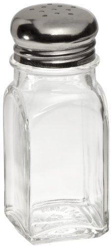 (Adcraft MSQ-2 Square Mushroom Glass Salt and Pepper Shaker, 2 oz. Capacity, 4-Inch Height (Case of 24))