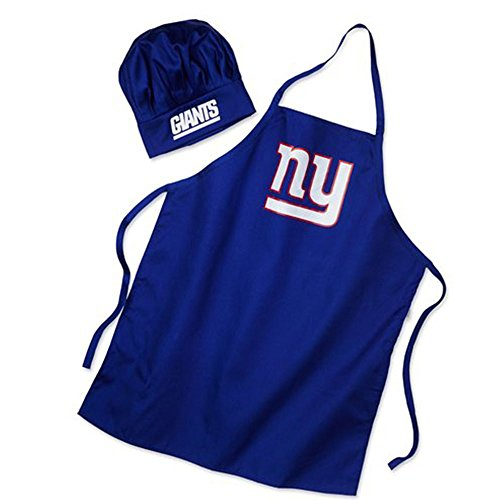 Men's Chef Hat & Apron - NFL - New York Giants - Team Logo BBQ Barbeque Cook Grill Home Tailgating - Bbq Apron Logo