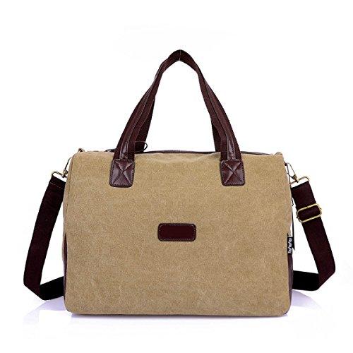 Frauen Jahrgang Leinwand Schulter Aktentasche Messenger Handtasche Arbeiten Die Universelle Einsatz Tasche ,A-OneSize