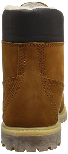 Timberland Womens Boots Premium Leather Rust 6 inch Fleece 77vx6dZqrw