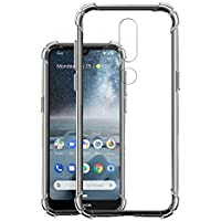 JGD PRODUCTS Shock Proof Protective Soft Back Case Cover for Nokia 4.2 (2019) (Transparent) [Bumper Corners with Air Cushion Technology]