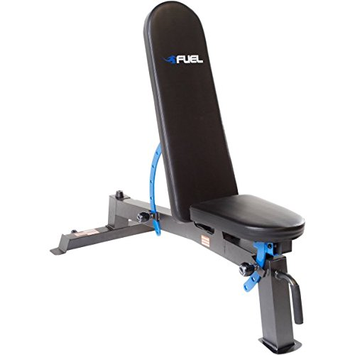 Steel construction and powder-finish FID Adjustable Utility bench by Fuel Pureformance