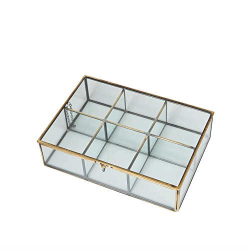 Mygift Decorative Clear Glass Amp Brass Metal Frame 6