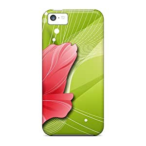 NNr27923WQcc Anti-scratch Cases Covers RobertWood Protective Poppy On Green Cases For Iphone 5c