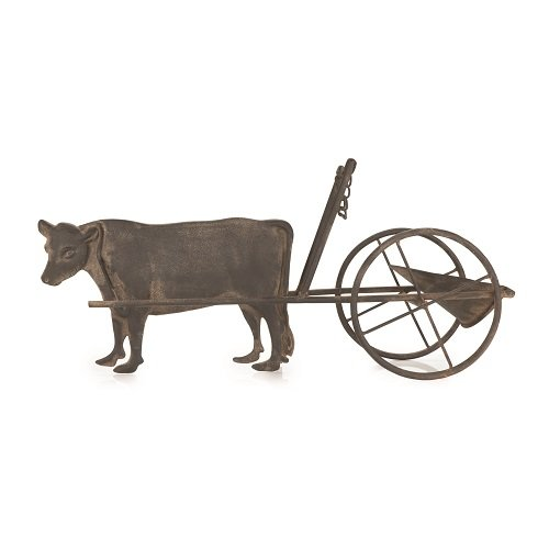Cow Wine Bottle - Rustic Farmhouse Cow and Cart Bottle Holder by Twine