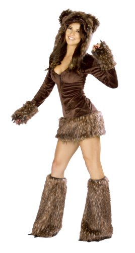J. Valentine Women's Teddy Bear Costume Zipper-Front with