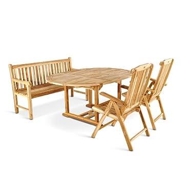 Amazon.de: SAM 4tlg. Gartengruppe Borneo, Teak-Holz Gartenmöbel, 1 x ...