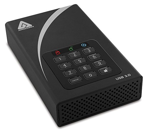 Apricorn Aegis Padlock 4 TB DT 256-bit Encryption USB 3 Hard Drive (ADT-3PL256-4000) by Apricorn