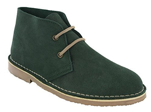 Womens Desert Eye Leather Real Green Toe L777 Suede Boots 2 UK3 Roamers Round 8 Forest nEqUZIx