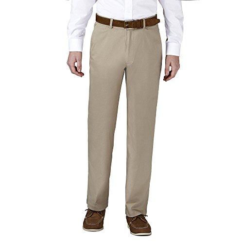 - Haggar HC00223 Men's Coastal Comfort Chino Pant, Putty - 38-34