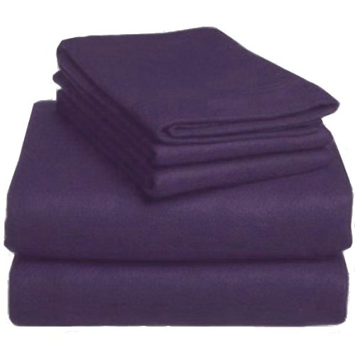 MARRIKAS FLANNEL DUVET COVER SET TWIN PURPLE