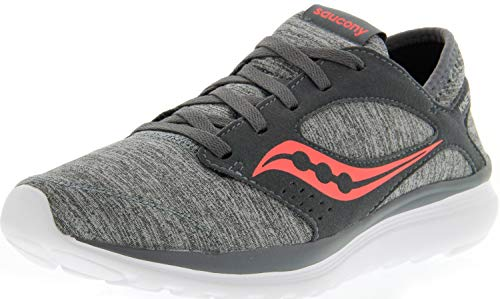 Pictures of Saucony Women's Kineta Relay Grey/Heather/ Grey/Heather/Coral 1