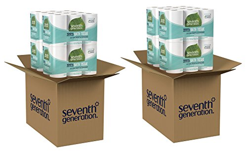 Seventh Generation Toilet Paper, Bath Tissue, 100% Recycled Paper, 2 Pack by Seventh Generation