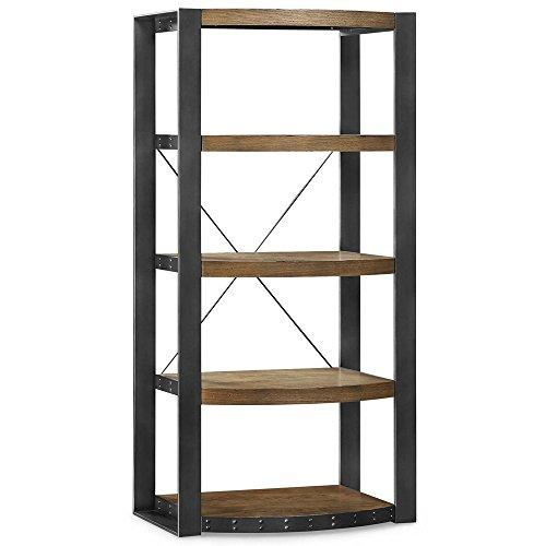 - Santa Fe Five Shelf Distressed Bookcase - 60