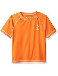 "iXtreme Little Boys' ""Surf Shop"" Rash Guard - orange, 5"