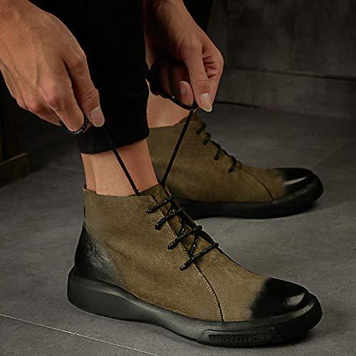 Pelle Moda Classic Stivaletti in retr Uomo Bovina Pelle Casual Doc per Stivali Boots Chelsea Adulti Classic Marten Autunno Stivali 7Ww8aFq4x