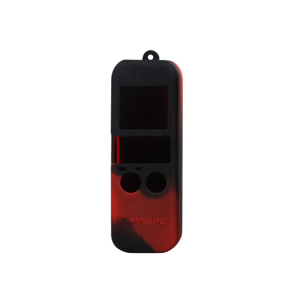 Vacally シリコンカバーケース DJI OSMO ポケットジンバルカメラ用 携帯ストラップ付き Osmoポケット保護アクセサリー B07MKYSNH6 F F