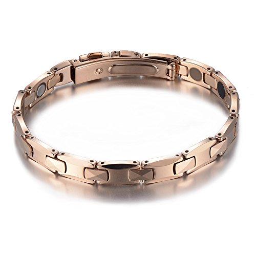 Sports Anion Energy Bracelet Wristband - Black + Silver - 5