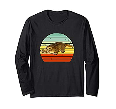 Vintage Retro Platypus Long Sleeve T-Shirt