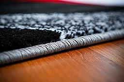 2430 Gray White Black 5\'2x7\'2 Area Rug Carpet Large New