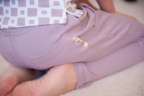 L'oved Baby Boot Cut Lounge Pants Elastic Waistband It's-So-Her Lavender 4T