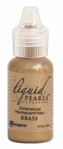 (Ranger Liquid Pearls Glue, 0.5 oz, Brass)