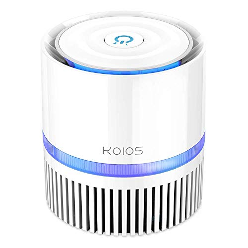 KOIOS Air Purifier, Indoor Air Cleaner with 3-in-1 True HEPA Filter for Home and Office, Odor Allergies Eliminator for Smoke, Dust, Pets, 3 Stage Filtration, Night Light, 3-Year Warranty (Renewed)