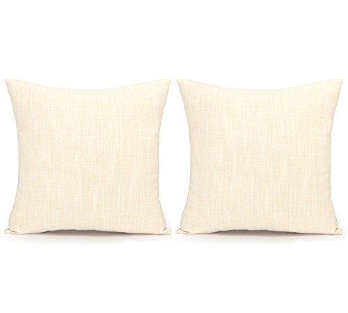 (Acanva DP-SL-Ivory-2P Decorative Throw Pillows, 24 x 24, Ivory)