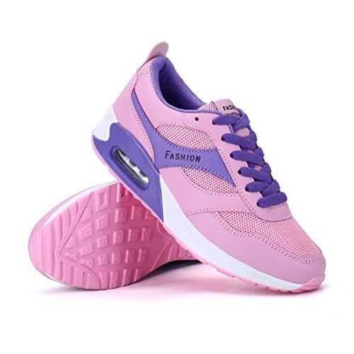 Hombres Zapatos deportivos El nuevo impermeable Respirable Formación Zapatos para correr women pink