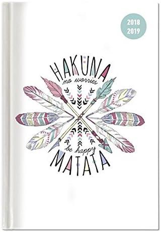 """Diario Agenda Scuola Collegetimer """"Hakuna Matata"""" 2018/2019 - Settimanale - 224 Pagine - 15X21 Cm"""