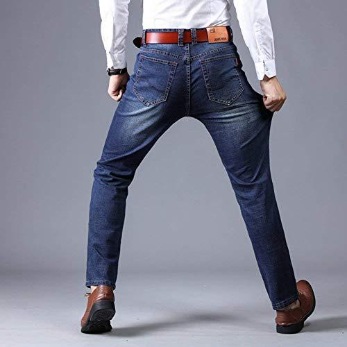 Stretch Denim Ragazzi In Slim Uomo Blau Dritti Fit Casual Pantaloni Classiche 2 Da Jeans AC1wwq