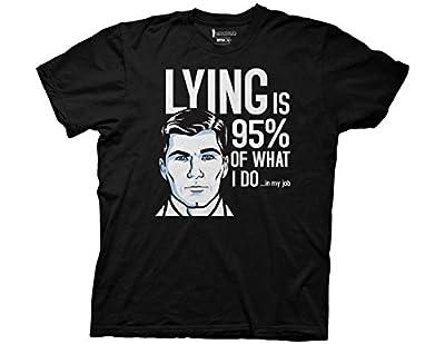 Ripple Junction Archer Lying 95 Percent Adult T-Shirt