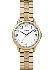 Timex Womens TW2R58900 Easy Reader 31mm Gold-Tone Stainless Steel Expansion Band Watch