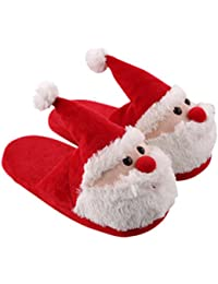 Christmas Santa Claus Slippers Winter Warm Soft Plush Slippers Anti Slip size 42-43