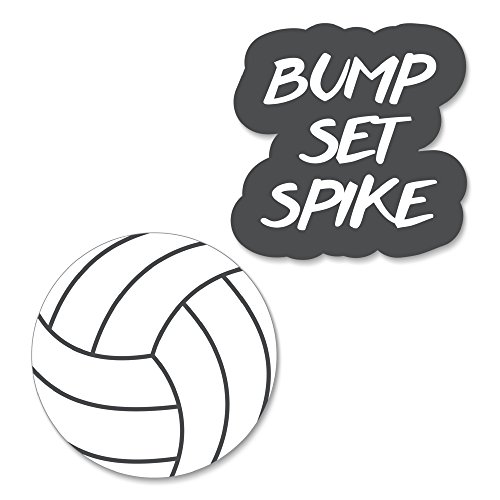 Bump, Set, Spike - Volleyball DIY Shaped Baby Shower or Birthday Party Cut-Outs - 24 Count ()
